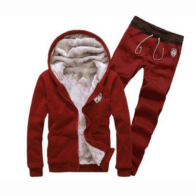 Hommes Sports Casual Daily Hoodie Solid à capuche Micro coton élastique manches longues Costume