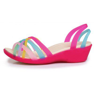 Korean Fish Mouth Rainbow Casual Female SandalsWomens Sandals<br>Korean Fish Mouth Rainbow Casual Female Sandals<br><br>Available Size: 36-40<br>Closure Type: Lace-Up<br>Embellishment: Hollow Out<br>Gender: For Women<br>Heel Type: Platform<br>Occasion: Casual<br>Package Content: 1xshoes(pair)<br>Pattern Type: Solid<br>Sandals Style: Ankle-Wrap<br>Style: Leisure<br>Upper Material: PU<br>Weight: 1.2000kg