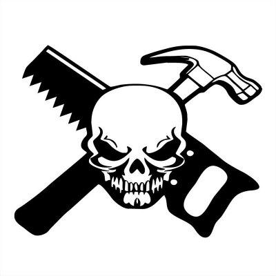 Buy DSU Carpenter Skull Worker Stickers Toilet Wall Decals Decorative, BLACK, 15X20CM, Home & Garden, Home Decors, Wall Art, Wall Stickers for $2.59 in GearBest store