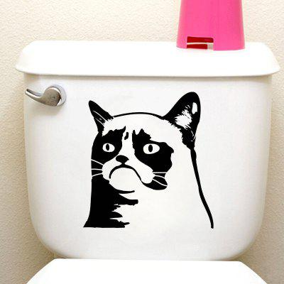 DSU Grumpy Cat Funny Animal Toilet Stickers Home Decoration Wall DecalsWall Stickers<br>DSU Grumpy Cat Funny Animal Toilet Stickers Home Decoration Wall Decals<br><br>Brand: DSU<br>Color Scheme: Black<br>Function: Height Sticker, Light Switch Stickers, Decorative Wall Sticker, Fridge Sticker<br>Material: Vinyl(PVC)<br>Package Contents: 1 x Wall Sticker<br>Package size (L x W x H): 22.00 x 17.00 x 0.50 cm / 8.66 x 6.69 x 0.2 inches<br>Package weight: 0.0800 kg<br>Product size (L x W x H): 20.00 x 15.00 x 0.10 cm / 7.87 x 5.91 x 0.04 inches<br>Product weight: 0.0500 kg<br>Quantity: 1<br>Subjects: Fashion,Vintage,Others,Holiday,Cute,Cartoon<br>Suitable Space: Garden,Living Room,Bathroom,Bedroom<br>Type: Plane Wall Sticker
