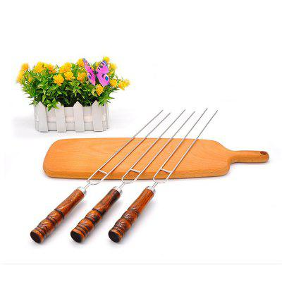 4 PCS Stainless Steel Barbecue Skewers Safe with Wooden Handle For Meat Chicken Veggies Campfire CookingOther Kitchen Accessories<br>4 PCS Stainless Steel Barbecue Skewers Safe with Wooden Handle For Meat Chicken Veggies Campfire Cooking<br><br>Material: Stainless Steel, Wooden<br>Package Contents: 4 x  Barbecue Skewer<br>Package size (L x W x H): 42.50 x 3.00 x 2.00 cm / 16.73 x 1.18 x 0.79 inches<br>Package weight: 0.0900 kg<br>Product weight: 0.0610 kg<br>Type: Other Kitchen Accessories