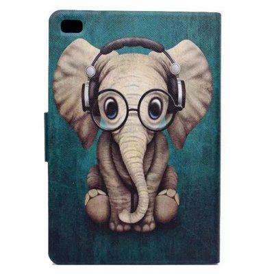 Case for iPad Mini 1 / 2 / 3 / 4 Card Holder with Stand Flip Pattern Full Body Elephant Hard PU Leather baby elephant pattern stylish pu leather flip open case w stand for ipad 2 the new ipad ipad 4