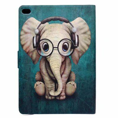 Case for iPad 2017 / Air / Air2 Card Holder with Stand Flip Pattern Full Body Elephant Hard PU Leather baby elephant pattern stylish pu leather flip open case w stand for ipad 2 the new ipad ipad 4