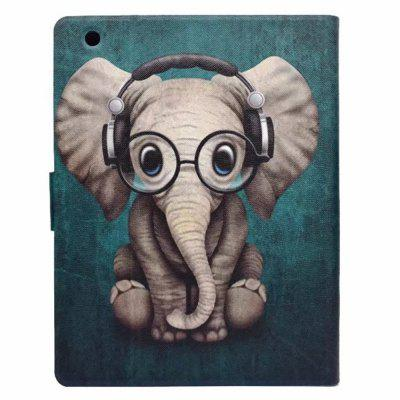 Case For iPad 2 / 3 / 4 Card Holder with Stand Flip Pattern Full Body Elephant Hard PU Leather carbon fiber pattern brand watch box black pu leather watch display boxes with lock fashion men s women s storage gift box c032