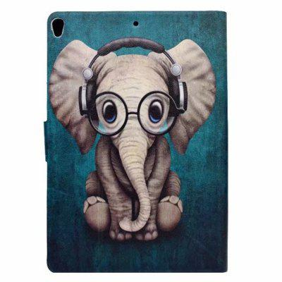 Case for iPad Pro 10.5 Card Holder with Stand Flip Pattern Full Body Elephant Hard PU Leather baby elephant pattern stylish pu leather flip open case w stand for ipad 2 the new ipad ipad 4