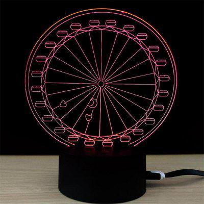 Wheel Shape Creative USB Touch Colorful 3D Small Night Light3D Lamps<br>Wheel Shape Creative USB Touch Colorful 3D Small Night Light<br><br>Feature: Touch Sensor<br>Light Source Color: Pink,White,Red,Blue,Green,Yellow,Warm White<br>Package Content: 1 x Small Night Light<br>Package Size ( L x W x H ): 24.00 x 17.00 x 5.00 cm / 9.45 x 6.69 x 1.97 inches<br>Package weight: 0.3100 kg<br>Product Size(L x W x H): 21.00 x 15.00 x 8.70 cm / 8.27 x 5.91 x 3.43 inches<br>Product weight: 0.3000 kg<br>Type: Creative Design<br>Voltage (V): 5V