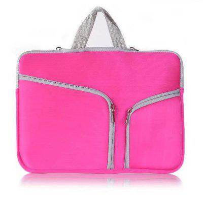 15.4 inch Tablet / Laptop Sleeve Double Pocket Zipper Bag Carrying Case