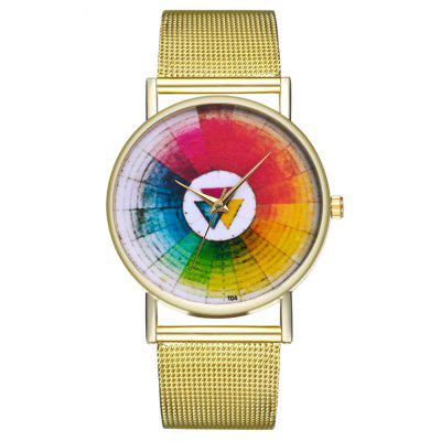ZhouLianFa Fashion Colorful Pattern Quartz Watch