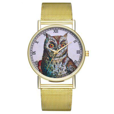 ZhouLianFa T107 Fashion Colorful Owl Pattern Quartz Watch