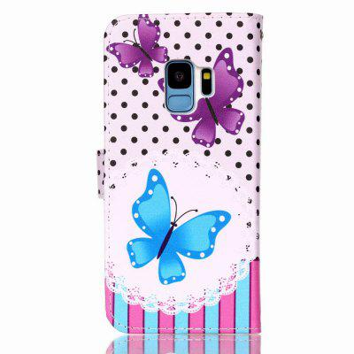 Flip Phone Case Cover for Samsung Galaxy S9 PU Flower Love Leather CardSamsung S Series<br>Flip Phone Case Cover for Samsung Galaxy S9 PU Flower Love Leather Card<br><br>Compatible with: Samsung Galaxy S9<br>Features: Vertical Top Flip Case, Full Body Cases, Bumper Frame, With Credit Card Holder, Anti-knock<br>For: Samsung Mobile Phone<br>Material: PU Leather, TPU<br>Package Contents: 1 x Case<br>Package size (L x W x H): 9.00 x 18.00 x 2.00 cm / 3.54 x 7.09 x 0.79 inches<br>Package weight: 0.0800 kg<br>Product size (L x W x H): 9.00 x 18.00 x 1.50 cm / 3.54 x 7.09 x 0.59 inches<br>Product weight: 0.0750 kg<br>Style: Vintage, Colorful, Funny, Contrast Color, Stripe Pattern, Cartoon, Cute, Leather, Fashion, Floral, Animal, Pattern