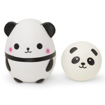 Jumbo Squishy Cute Panda Stress Relief Soft Toy for Kids and Adults 2PCS
