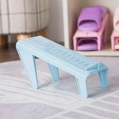 Adjustable Simple One-Piece Plastic Shoe RackStorage Holders &amp; Racks<br>Adjustable Simple One-Piece Plastic Shoe Rack<br><br>Available Color: Pink,Blue,Green,Beige,Grey<br>Functions: Bedroom, School<br>Materials: PP<br>Package Contents: 1 x Shoe Rack<br>Package Size(L x W x H): 22.50 x 11.00 x 3.00 cm / 8.86 x 4.33 x 1.18 inches<br>Package weight: 0.1000 kg<br>Product Size(L x W x H): 22.50 x 11.00 x 14.00 cm / 8.86 x 4.33 x 5.51 inches<br>Product weight: 0.0900 kg<br>Types: Storage Holders and Racks