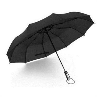 New Fully-Automatic Three Folding Frame Windproof 10RIBS Gentle Umbrellas