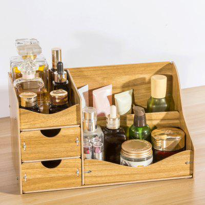 HECARE Jewelry Container Home Storage Wooden Box Handmade DIY Assembly Case Organizadores Wood Desk Makeup Organizer NEW leather makeup brushes holder case empty storage tube case for makeup brushes container dispaly stand cup container solid case