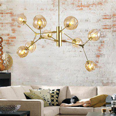 Modern simple nordic creative molecular led glass ball chandelier modern simple nordic creative molecular led glass ball chandelier for restaurant mozeypictures Images