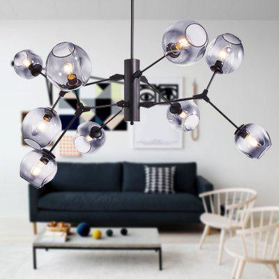 Modern Simple Nordic Creative Molecular LED Glass Ball Chandelier For Restaurant