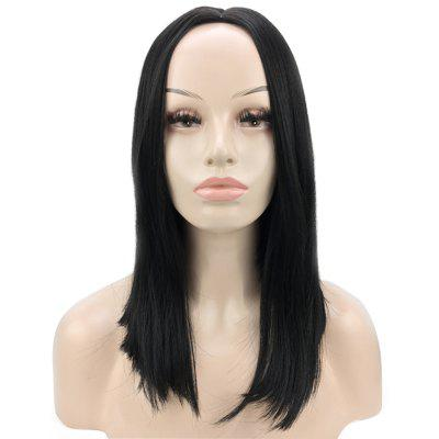 Black Long Straight Wigs High Temperature Fiber for Women 14 inch