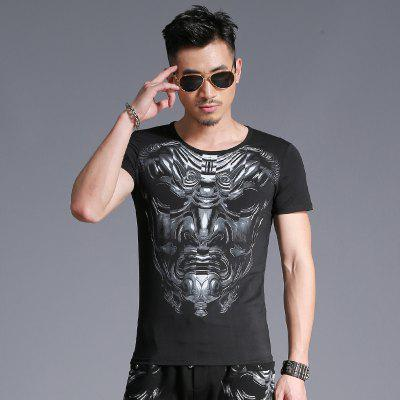 Round Neck 3D Face Print Short Sleeve T-ShirtMens Short Sleeve Tees<br>Round Neck 3D Face Print Short Sleeve T-Shirt<br><br>Collar: Round Neck<br>Embellishment: Pattern<br>Material: Cotton<br>Package Contents: 1 x T-Shirt<br>Pattern Type: Figure<br>Sleeve Length: Short Sleeves<br>Style: Fashion<br>Weight: 0.1600kg