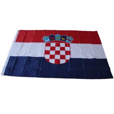 Croatian National Banner Outdoor Interior for Celebration