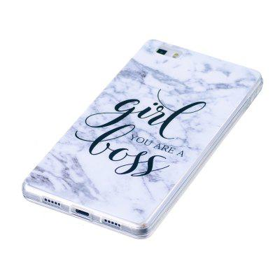Girl Characters Fashion Marble Soft TPU Phone Case for Huawei P8 Lite huawei p8 lite