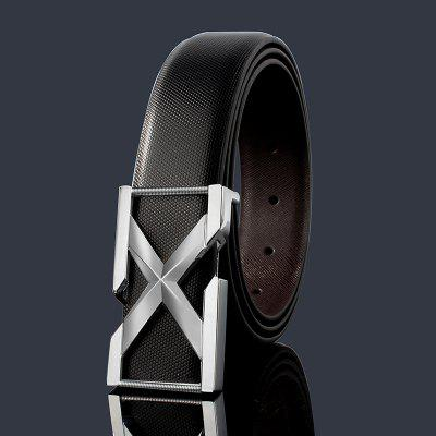 ZHAXIN 3005 3D X-Shaped Metal Clasp Embellished PU Leather Wide Belt victorinox swiss army часы victorinox swiss army 241778 коллекция i n o x
