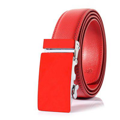 ZHAXIN 362 Red Automatic Clasp Man Belt
