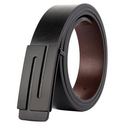 ZHAXIN 1002 Substantial  S-Shaped Smooth Clasp Belt for Man