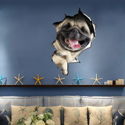 Buy 3D Wall Sticker Dog Personality Creative Wall Stickers Can Be Removed, MULTI, 1PC, Home & Garden, Home Decors, Wall Art, Wall Stickers for $17.20 in GearBest store