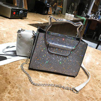 Mother Shoulder Sequins Messenger Chain Bag PacketCrossbody Bags<br>Mother Shoulder Sequins Messenger Chain Bag Packet<br><br>Closure Type: Open<br>Gender: For Women<br>Handbag Type: Totes<br>Main Material: PU<br>Occasion: Versatile<br>Package Contents: 1 x handbag, 1 x clutch<br>Package size (L x W x H): 18.00 x 10.00 x 15.00 cm / 7.09 x 3.94 x 5.91 inches<br>Package weight: 0.4000 kg<br>Pattern Type: Solid<br>Product size (L x W x H): 17.00 x 9.00 x 14.00 cm / 6.69 x 3.54 x 5.51 inches<br>Product weight: 0.3000 kg<br>Style: Fashion