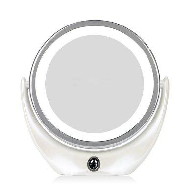 New LED Lighted Double Sided 360 Degree Rotation Rechargeable Makeup Mirror
