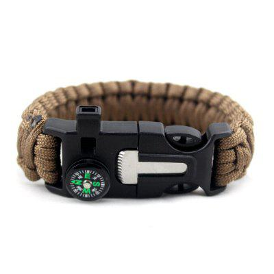 Rescue Emergency Outdoor Multifunctional Bracelet Knife Survival Hand Rope