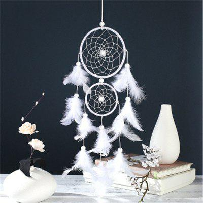 Simple Two - Ring Dream Net Feather Hang Decoration Fashionable Home Decoration