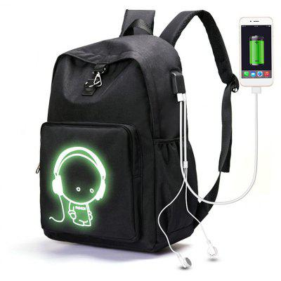 Youth Fashion Campus Charging Luminous Backpack