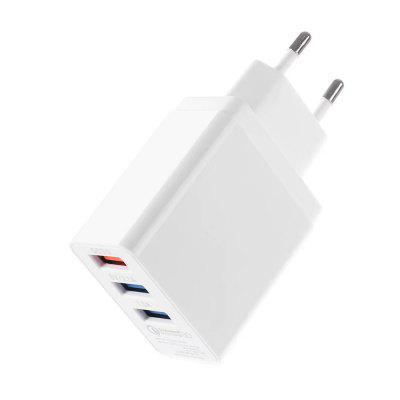 USB Charger 5V3A Universal Portable Travel Adapter EU Plug MobileChargers &amp; Cables<br>USB Charger 5V3A Universal Portable Travel Adapter EU Plug Mobile<br><br>Color: White<br>Package Contents: 1 x Charger<br>Package size (L x W x H): 14.50 x 8.00 x 3.00 cm / 5.71 x 3.15 x 1.18 inches<br>Package weight: 0.1000 kg<br>Product size (L x W x H): 8.50 x 4.50 x 2.00 cm / 3.35 x 1.77 x 0.79 inches<br>Product weight: 0.0600 kg
