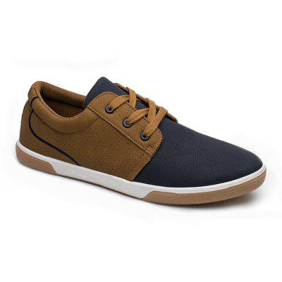 The New Style Low-top Leather Sneakers Lace-up Casual Shoes for MenCasual Shoes<br>The New Style Low-top Leather Sneakers Lace-up Casual Shoes for Men<br><br>Available Size: 40-44<br>Closure Type: Lace-Up<br>Embellishment: None<br>Gender: For Men<br>Outsole Material: Rubber<br>Package Contents: 1 x Shoes (pair)<br>Pattern Type: Patchwork<br>Season: Spring/Fall<br>Toe Shape: Round Toe<br>Toe Style: Closed Toe<br>Upper Material: PU<br>Weight: 1.4520kg