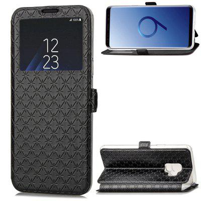 Window PU Leather Cover Case for Samsung Galaxy S9Samsung S Series<br>Window PU Leather Cover Case for Samsung Galaxy S9<br><br>Compatible with: Samsung Galaxy S9<br>Features: Full Body Cases, With Credit Card Holder, Anti-knock<br>For: Samsung Mobile Phone<br>Material: TPU, PU Leather<br>Package Contents: 1 x Phone Case<br>Package size (L x W x H): 15.00 x 8.00 x 1.50 cm / 5.91 x 3.15 x 0.59 inches<br>Package weight: 0.0700 kg<br>Product weight: 0.0700 kg<br>Style: Cool, Special Design
