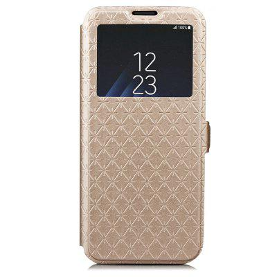Window PU Leather Cover Case for Samsung Galaxy S9 Plus cover case for samsung galaxy note 8 fine rhombic leather