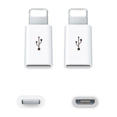 5pcs Micro USB to 8 Pin Adapter for Apple iPhone X / 8 / Plus / 7 / 7 Plus / 6iPhone Cables &amp; Adapters<br>5pcs Micro USB to 8 Pin Adapter for Apple iPhone X / 8 / Plus / 7 / 7 Plus / 6<br><br>Color: White,White,White<br>Package Contents: 5 x Adapter<br>Package size (L x W x H): 5.00 x 4.00 x 1.00 cm / 1.97 x 1.57 x 0.39 inches<br>Package weight: 0.0110 kg<br>Product size (L x W x H): 2.10 x 0.80 x 0.50 cm / 0.83 x 0.31 x 0.2 inches<br>Product weight: 0.0100 kg