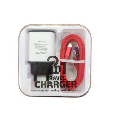 F121 Micro USB Cable Charger Portable Travel Wall Charger Adapter EU Plug PhoneChargers &amp; Cables<br>F121 Micro USB Cable Charger Portable Travel Wall Charger Adapter EU Plug Phone<br><br>Accessories type: Cable, Power Adapter<br>Colors: Black,White,Red,Blue,Khaki<br>Material: Nylon, Aluminium Alloy<br>Package Contents: 1 x Wall charger adapter<br>Package size (L x W x H): 10.00 x 10.00 x 4.00 cm / 3.94 x 3.94 x 1.57 inches<br>Package weight: 0.1200 kg<br>Product size (L x W x H): 4.00 x 8.00 x 2.20 cm / 1.57 x 3.15 x 0.87 inches<br>Product weight: 0.1000 kg