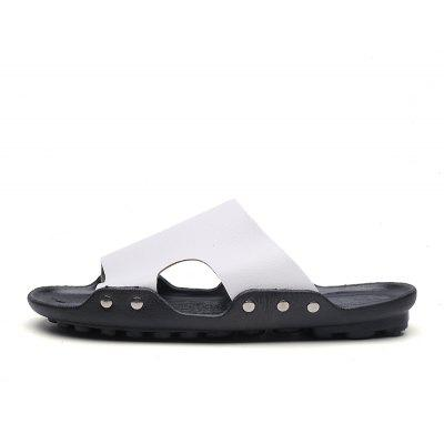 Fashion Genuine Leather Men Casual SlippersMens Slippers<br>Fashion Genuine Leather Men Casual Slippers<br><br>Available Size: 39-44<br>Embellishment: None<br>Gender: For Men<br>Outsole Material: Rubber<br>Package Contents: 1xShoes(Pair)<br>Pattern Type: Solid<br>Season: Summer, Spring/Fall<br>Slipper Type: Outdoor<br>Style: Retro<br>Upper Material: Full Grain Leather<br>Weight: 1.2000kg