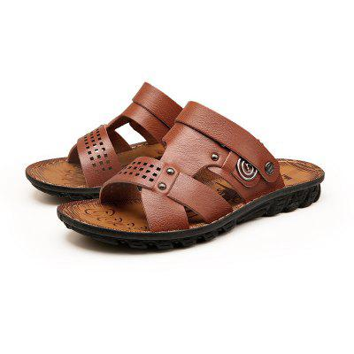Mens Classic Fashion Leather SandalsMens Slippers<br>Mens Classic Fashion Leather Sandals<br><br>Available Size: 38-43<br>Closure Type: Slip-On<br>Embellishment: Hollow Out<br>Gender: For Men<br>Occasion: Casual<br>Outsole Material: Rubber<br>Package Contents: 1xShoes(Pair)<br>Pattern Type: Solid<br>Season: Spring/Fall<br>Toe Shape: Round Toe<br>Toe Style: Closed Toe<br>Upper Material: Full Grain Leather<br>Weight: 1.2000kg