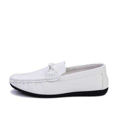 Mens Casual  Soft Bottom Leisure ShoesFlats &amp; Loafers<br>Mens Casual  Soft Bottom Leisure Shoes<br><br>Available Size: 39-44<br>Closure Type: Slip-On<br>Embellishment: Ruched<br>Gender: For Men<br>Occasion: Office &amp; Career<br>Outsole Material: Rubber<br>Package Contents: 1xShoes(Pair)<br>Pattern Type: Solid<br>Season: Spring/Fall<br>Toe Shape: Round Toe<br>Toe Style: Closed Toe<br>Upper Material: Full Grain Leather<br>Weight: 1.2000kg