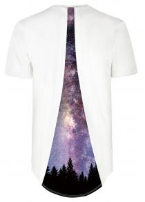 Starry Sky Forest Pattern Digital Printing T-shirt
