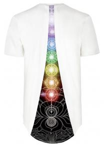 Colorful Circular Digital Printing Short Sleeve T-shirt