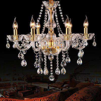 Extravagant 6 Head Candle Crystal Chandeliers