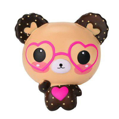 Jumbo Squishy Cute Glasses Bear Scented Charm Super Slow Rising Squeeze Toy