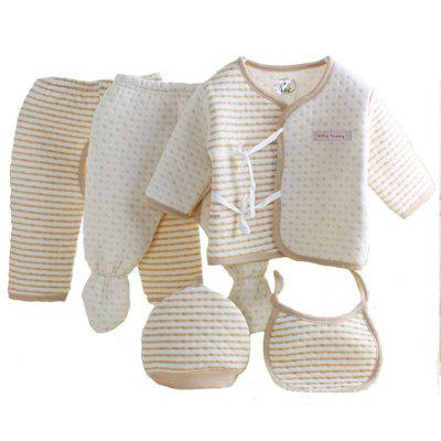 Newborn Suit Five Sets of Children's Mother and Baby Cotton Clothing