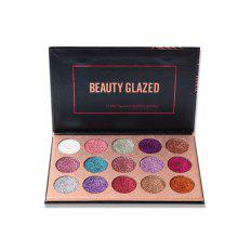 BEAUTY GLAZED Colorful Long-lasting Eyeshadow Palette 15 Colors in 1
