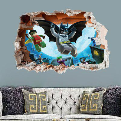 3D Wall Sticker Creative Wall Stickers RemovableWall Stickers<br>3D Wall Sticker Creative Wall Stickers Removable<br><br>Artists: Others<br>Color Scheme: Multicolor<br>Function: Decorative Wall Sticker, 3D Effect<br>Material: Vinyl(PVC)<br>Package Contents: 1 x Wall Sticker<br>Package size (L x W x H): 53.00 x 6.20 x 6.20 cm / 20.87 x 2.44 x 2.44 inches<br>Package weight: 0.3400 kg<br>Product size (L x W x H): 74.00 x 50.00 x 0.30 cm / 29.13 x 19.69 x 0.12 inches<br>Product weight: 0.1200 kg<br>Quantity: 1<br>Subjects: Fashion,Leisure,Holiday,Cartoon,3D,Movie<br>Suitable Space: Living Room,Bathroom,Bedroom,Dining Room,Office,Hotel,Cafes,Kids Room,Kids Room,Study Room / Office,Boys Room,Girls Room,Game Room<br>Type: 3D Wall Sticker