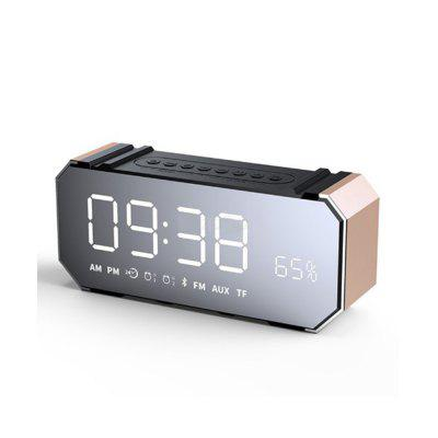 Portable Led Bluetooth Speaker Radio FM Alarm Clock with USB AUX TF MIC Computer